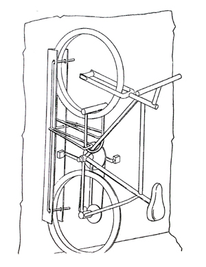 LOCK UP 1 DRAWING bike rack ca specializing in bicycle parking systems