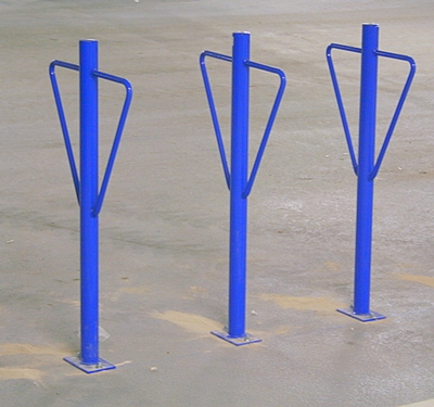 post and ring bike rack